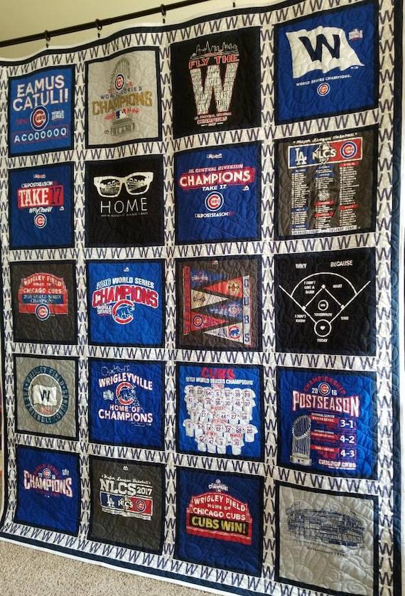 Custom T Shirt Quilt Made From 9 49 Tees Memory Tee Shirt Etsy