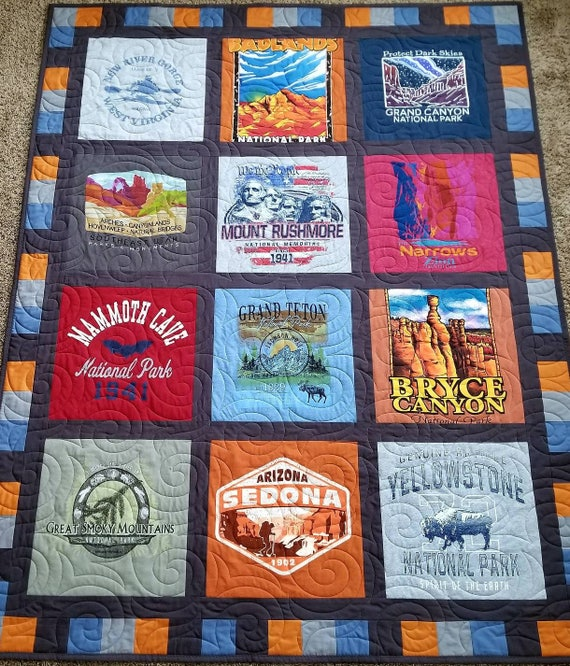 Tshirt Quilt Keepsake T Shirt Quilt Made From 9 To 49 Tee Etsy