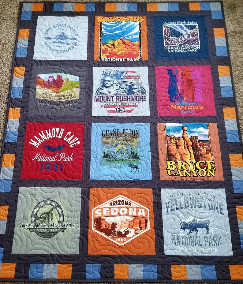 Tshirt Quilt Keepsake T Shirt Quilt Made From 9 To 49 Tee