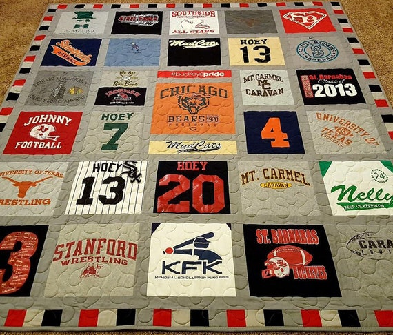 Tshirt Quilt Memory T Shirt Quilts Made From 9 To 49 Tee