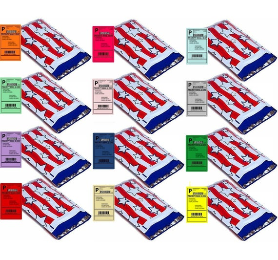 Boutique Design Mailer Bags Fast Shipping 1-1000 10x13 Stars and Stripes