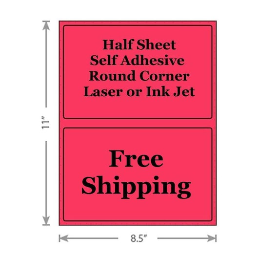 1000 QUALITY STICKY!! HALF SHEET LABELS FOR PAYPAL//USPS SHIPPING NO PERF