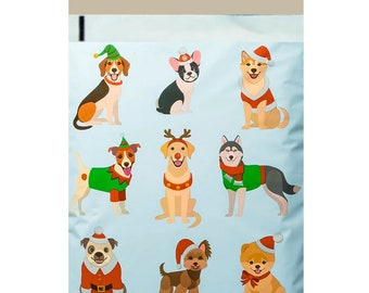 1-1000 10x13 ( Festive Pups ) Boutique Designer Poly Mailer Bags Fast Free Shipping