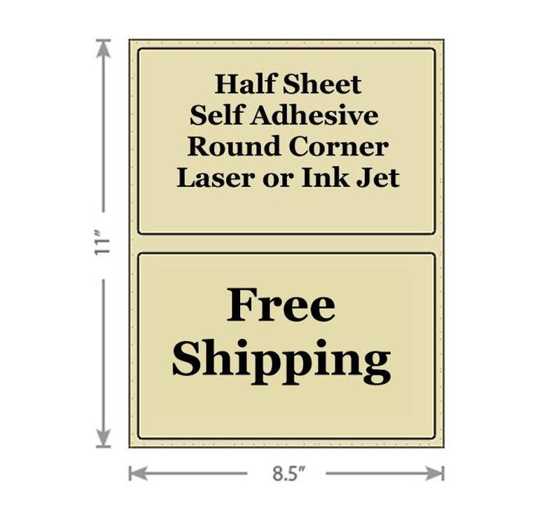 8 5x5 5 Color Half Sheet Self Adhesive Shipping Labels Other
