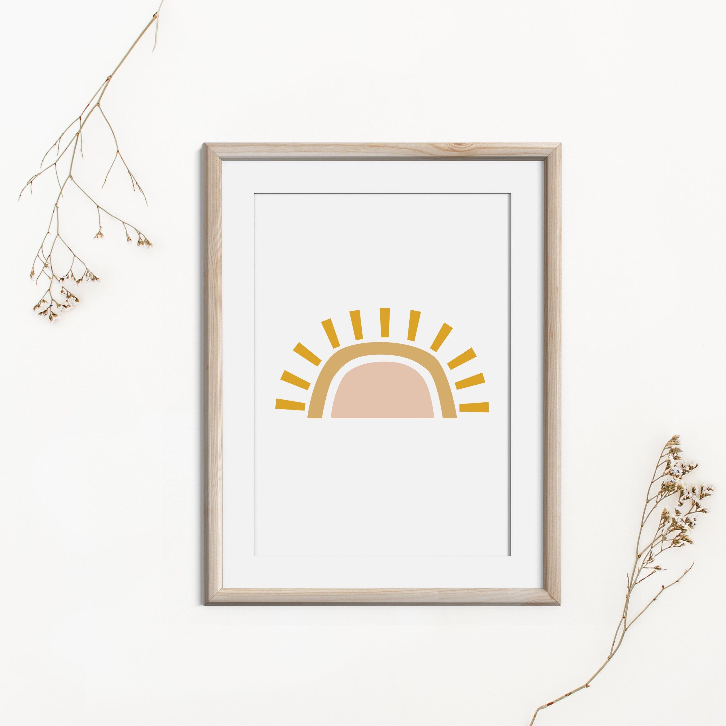 Modern Printable Wall Art, Summer Decor Mid Century Art, Boho Sun Printable  Art, Abstract Sun Instant Download, Neutral Minimalist Print