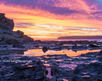 Beach Seascape Sunrise Sunset Landscape Digital Download Print Photo Digital Fine Art Photography