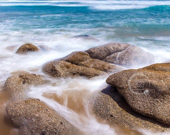Beach Digital Photo Print Water Coastal Photo Digital Download Landscape Seascape Water Waves Photo Print Fine Art Macro Photography Wall Ar