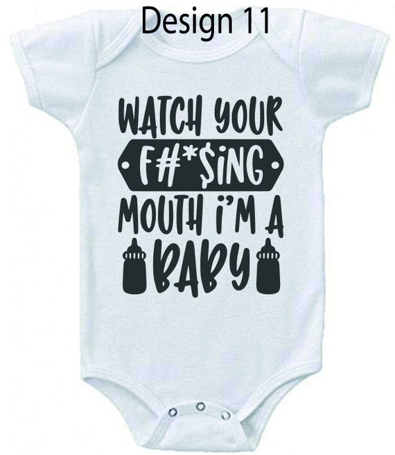 Baby vest novelty gift can be personalised set 3 design 14
