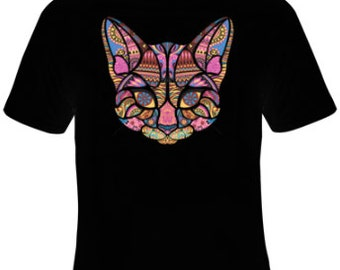 Cat Mosaic T-Shirt Women's Sizes