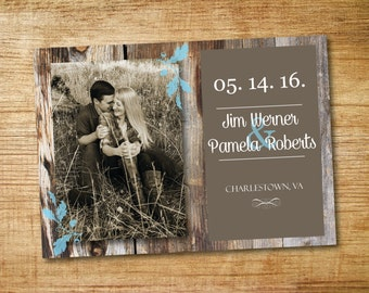 Country Love- Wedding Save the Date_ Printable