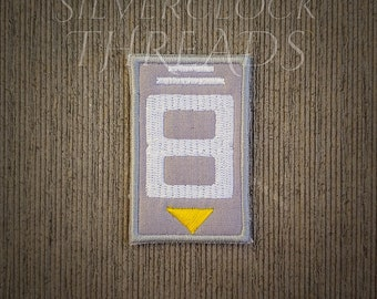 Sew-on patch - Overwatch Wrecking Ball Hammond 8 spray inspired embroidery  - 6 cm   2.5 in - costume and cosplay prop 9cd6a67e53ea