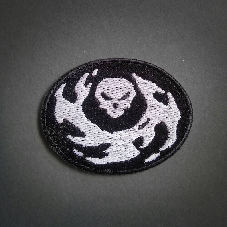 Sew-on patch small Overwatch Reaper Death Blossom inspired  693b00117f39