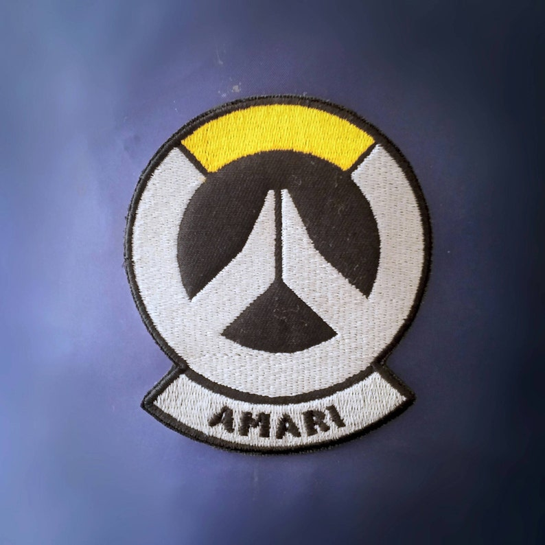 2a54f9f7 Sew-on patch Overwatch Ana Captain Amari skin shoulder | Etsy