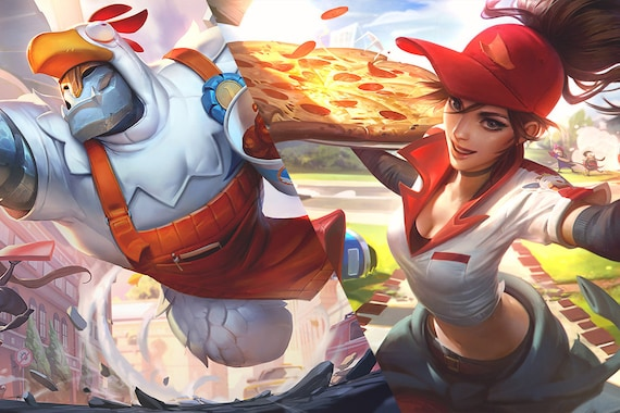 Lol Sivir Pizza Delivery Uniform Patch Inspired Embroidery League Of Legends Sew On Patch 75 Cm 3 In Cosplay Prop