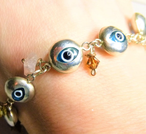 Evil Eye Bracelet, Evil Eye Protection Bracelet, E