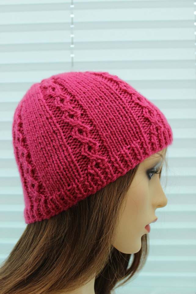 instant download ladies hat pattern womens hat pattern knitting pattern hat  knitting pattern two needles UK   USA Terms KP424 72f5d29e6b4