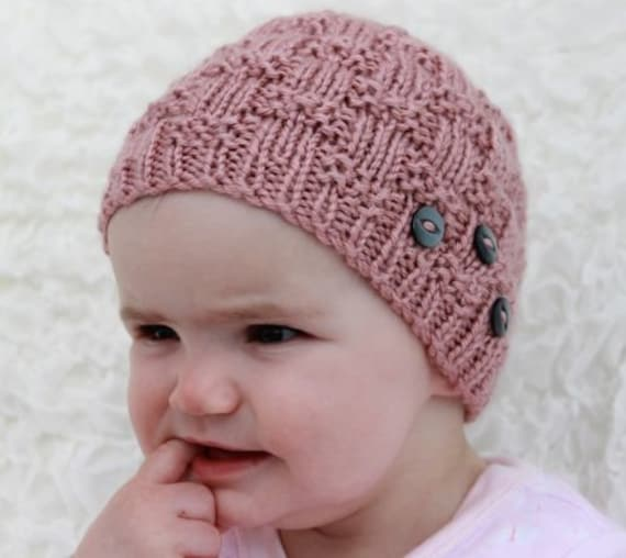 Instant Download Knitted Ladies Pattern Childs Beanie Pattern Etsy