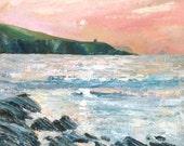 Giclee print, cornish sea...