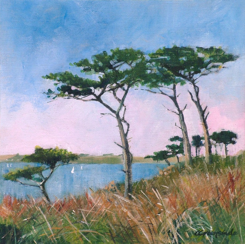 Giclee print original Cornish seascape coastal art coastal image 1