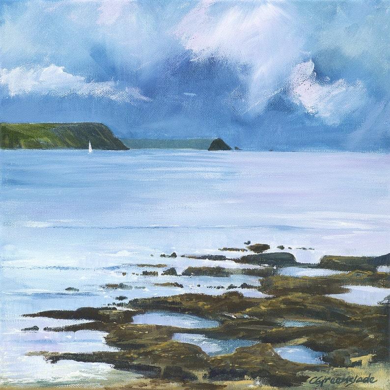 Giclee print original cornish seascape coastal art image 0