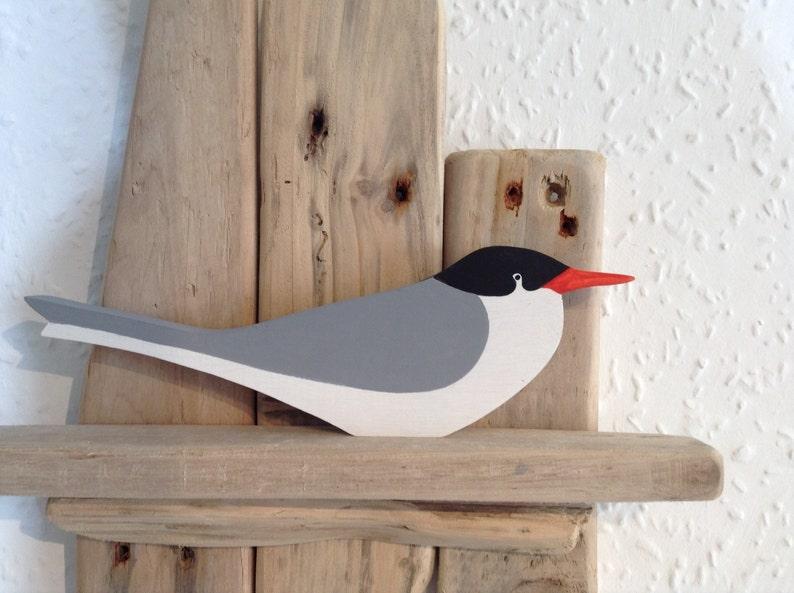 Common Tern  handcut wooden seabird image 0