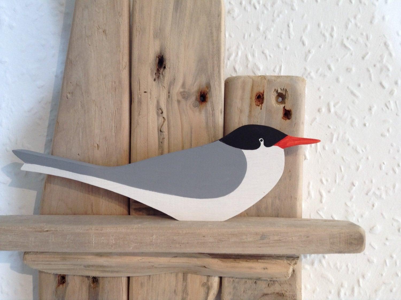 sterne oiseaux de mer en bois d coup la main etsy. Black Bedroom Furniture Sets. Home Design Ideas