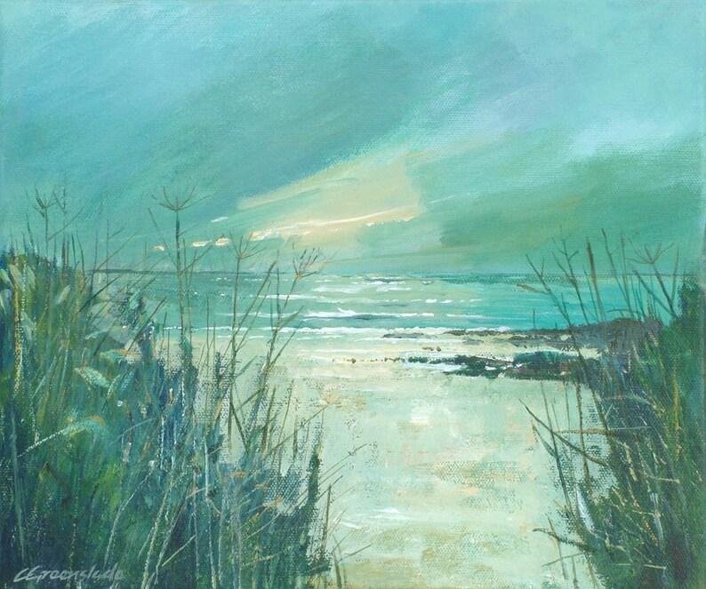 Giclee print original cornish seascape coastal art beaches image 0