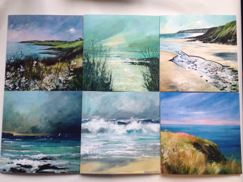 Fine art cards of The Roseland  collection of 6 coastal image 0