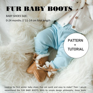 INSTANT DOWNLOAD Fur Baby Boots Pattern Leather Moccasin Pattern Booties Pattern Download Baby Moccasins DIY Tutorial baby boots How to make