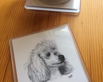Poodle Coaster - White Toy Poodle Coaster