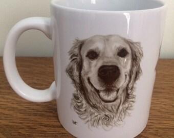 Golden Retriever Mug - Smiling Golden Retriever Coffee Mug