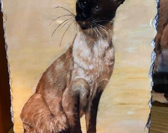 Siamese Cat Decorative Slate