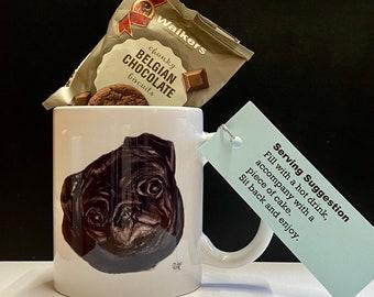 Black Pug Mug - Pug Lover Gift