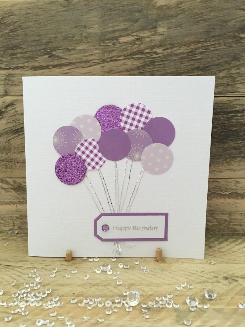 Handmade Birthday Card Happy Balloons Mum