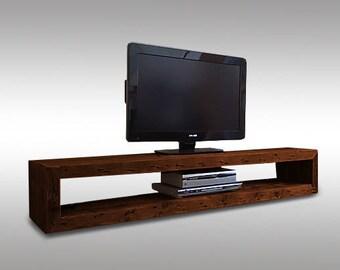 Dark Wood Tv Credenza : Tv stand etsy