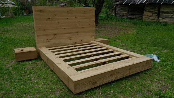 Queen Size Bed Handmade Platform Bed Pine Twin Bed Bedroom Furniture Bed Frame Full Bed Frame Floor Bed Modern Bed Bed Furniture Sydney