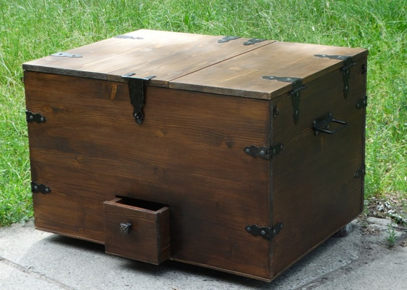 Groovy Trunk Coffee Table Wine Bar Wood Coffee Table Storage Trunk Storage Chest Trunk Wine Storage Wine Cabinet Steamer Trunk Pirate Treasure Onthecornerstone Fun Painted Chair Ideas Images Onthecornerstoneorg