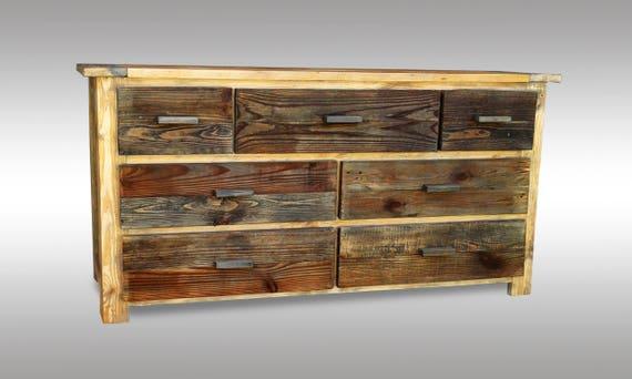 Mobili Legno Recuperato : Petto di legno dei cassetti mobili cassettiera mobili per la etsy