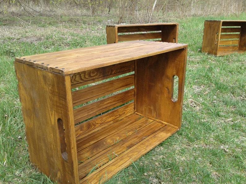 Mobili Rustici In Legno : Scatola di legno mobili in legno riciclato mobili pallet etsy