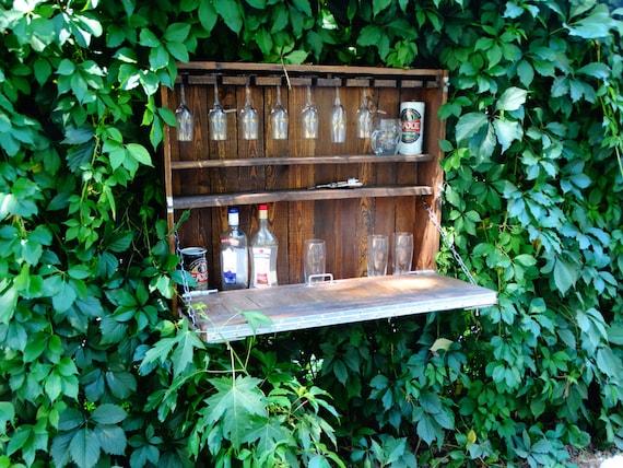 Mobili In Legno Riciclato Vendita : Rustico wine bar a casa mobili in legno riciclato pallet etsy