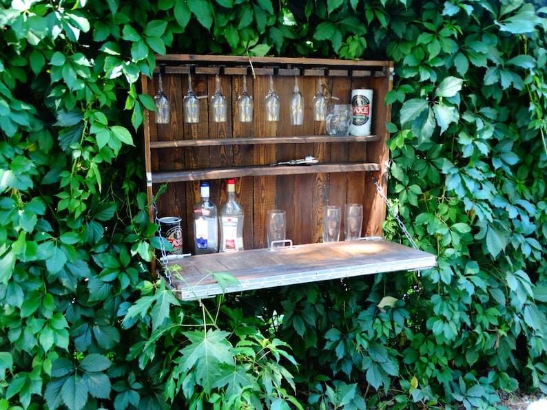 Produzione Mobili In Legno Riciclato : Rustico wine bar a casa mobili in legno riciclato pallet etsy