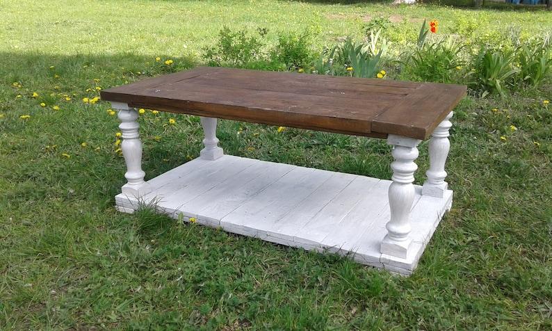 Tavolo Rustico Da Esterno.Tavolino Balustrade Mobili Da Giardino Esterno Rustico Etsy