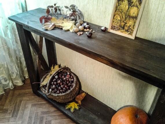 Mobili Rustici In Legno : Consolle mobili rustici in legno consolle a mano tavolo etsy