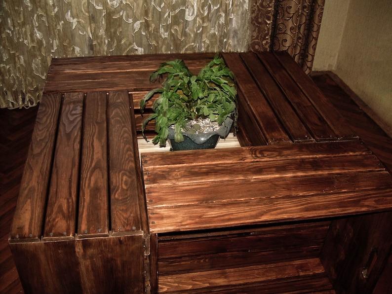 Couchtisch Quadratisch Holz Couchtisch Coutschtische Etsy