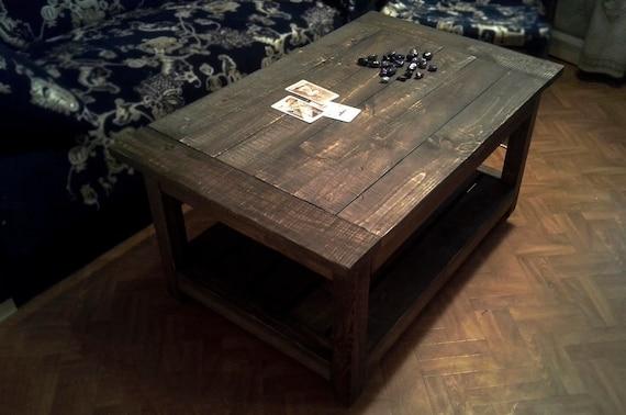 Black Coffee Table Handmade Furniture Old Pallet Coffee Etsy