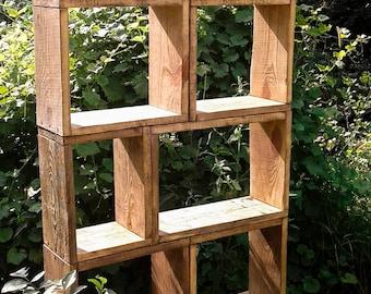 "Custom modular bookcase,Wooden furniture,Modern bookcase,Solid wood bookcase,Book case,Living room furniture""Tower"""