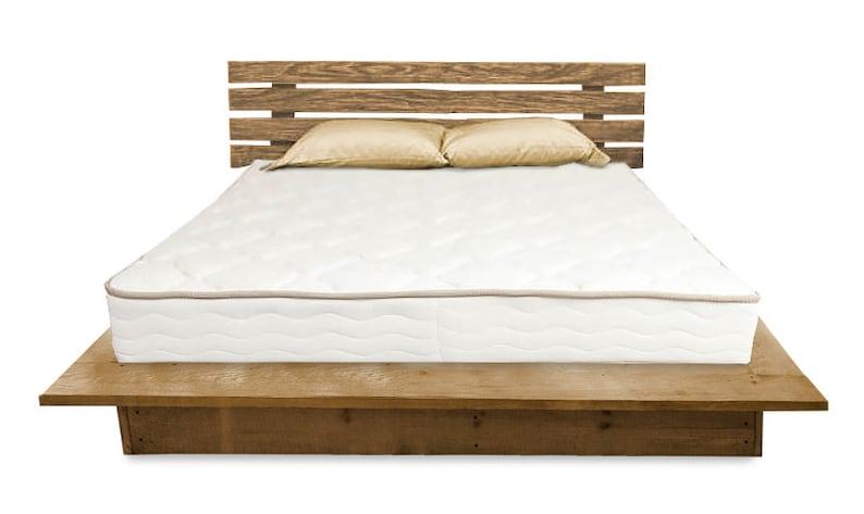 Grenen Bed Kopen.Kingsize Platform Bed Houten Slaapkamermeubilair Houten Bed Etsy