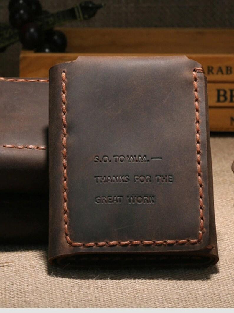 Vintage Handmade Genuine Leather key holder Men Leather Key wallet Keychain men housekeeper women key case Bag key organizer