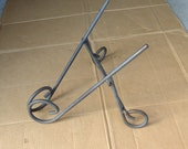 Easel cast iron metal stand vintage,book easel