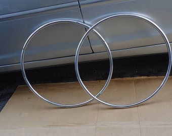 crome wheelchair rings bush bars vintage tire accsessory parts,from invacare tracer 1000 plus series.year 1990